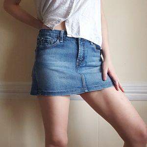 7 For All Mankind A Pocket Denim Mini Skirt 30